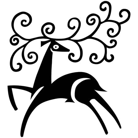 Deer vector illustration, a christmas elements for design. Vector