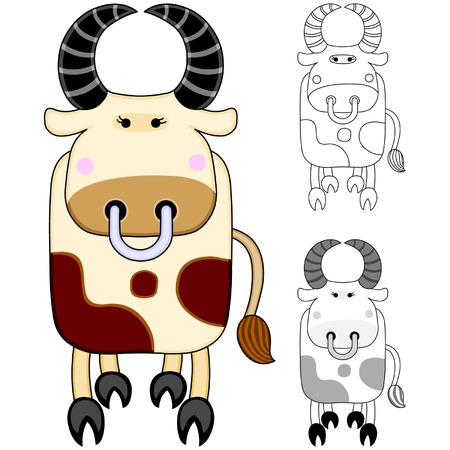 Cow Stock Vector - 4062659