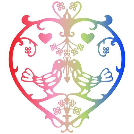 paper cut: Valentine Symbol
