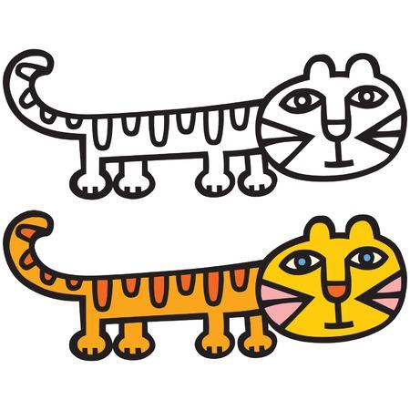A cute cat cartoon illustration.