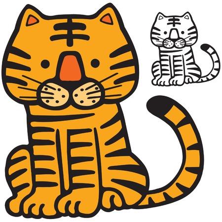 Een tijger cute cartoon afbeelding.