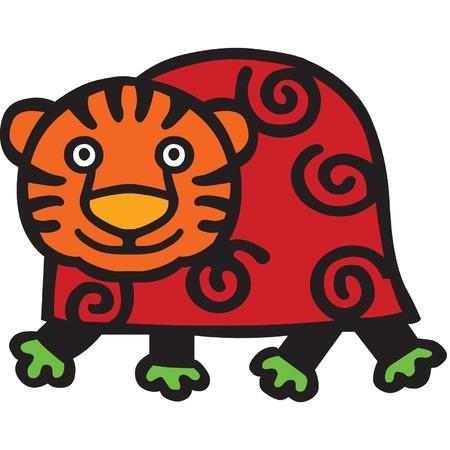 A cute tiger cartoon illustration. Stock Vector - 5933793