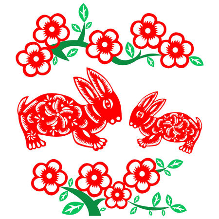 Chinese New Year rabbit Stock Vector - 8136939