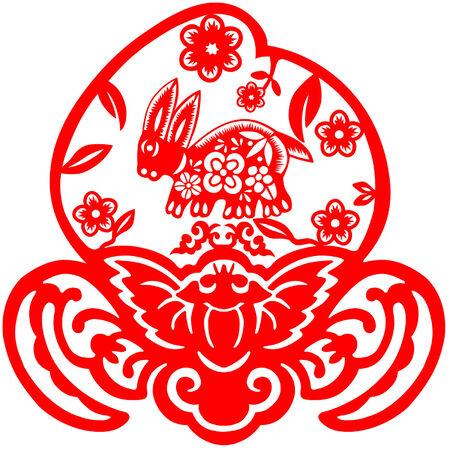 Chinese New Year rabbit Vector