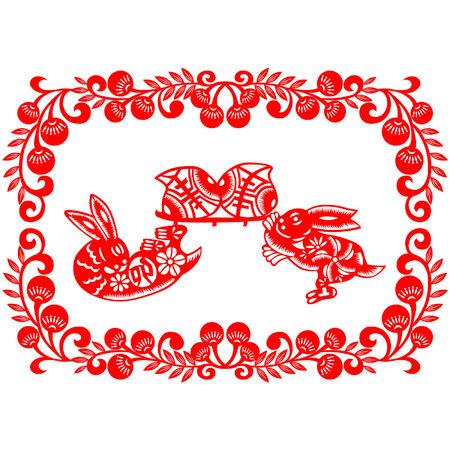 Chinese New Year rabbit Stock Vector - 8521572