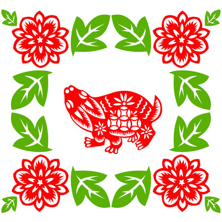 Chinese New Year rabbit Stock Vector - 8521546