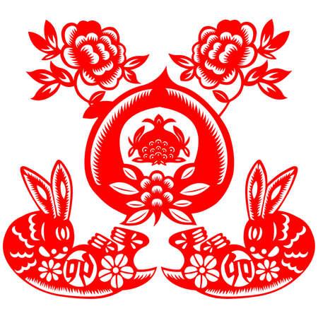 Chinese New Year rabbit Stock Vector - 8629484