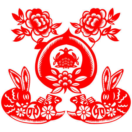 Chinese New Year rabbit Stock Vector - 8629484