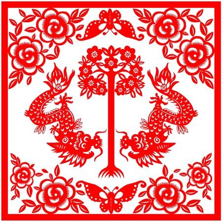 Chinees Nieuwjaar Draak 2012 Stock Illustratie