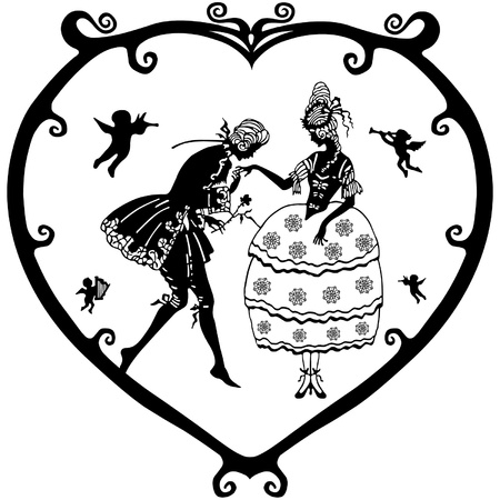 inlove: Valentine victoria Illustration