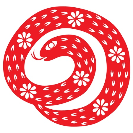 Chinese New Year Snake Stock Vector - 16725008