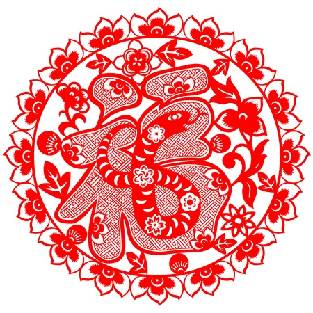 traditionally chinese: Chinese New Year Snake