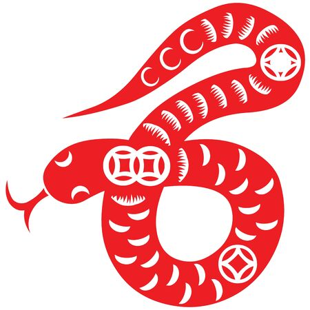 Chinese New Year Snake Stock Vector - 16795422