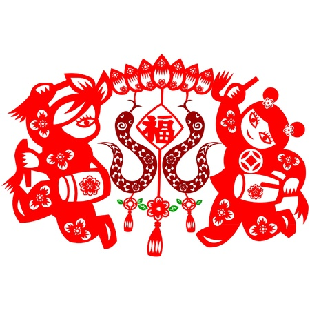 Chinese New Year Snake Stock Vector - 16853611
