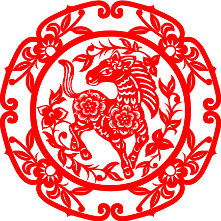 Chinese New Year Horse Stock Vector - 24753018