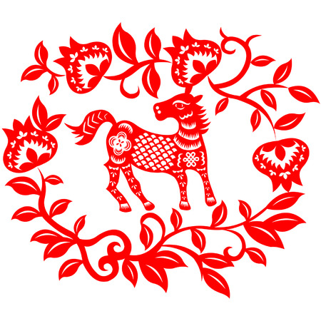 craft product: Chinese New Year Horse Illustration