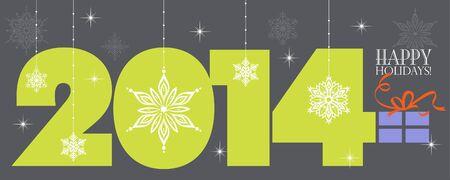 Happy Holidays 2014  Seasons Greetings  Colorful, stylish design  Vector EPS 8 illustration Stock Vector - 21512027