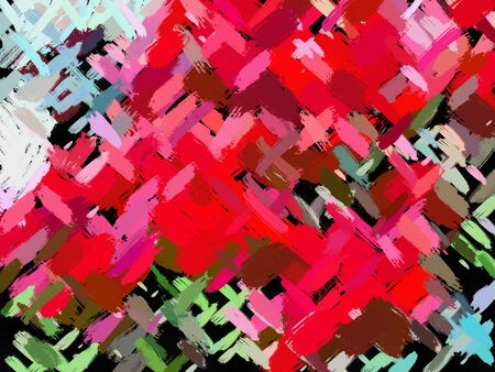 Modern stylish texture painting. Abstraction. Large brush strokes with oil paint.