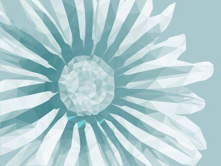 Vector low poly flower. Floral design illustration.
