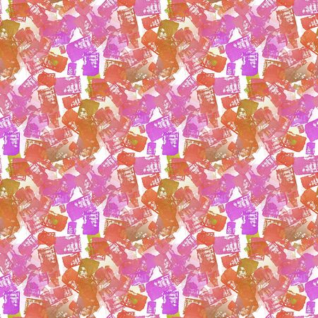 Colorful seamless pattern made of hand drawn watercolor strokes.