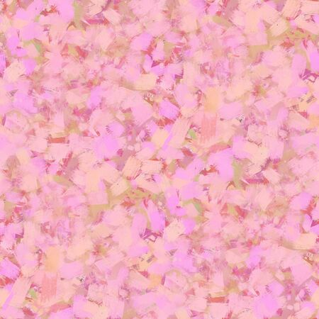 Abstract seamless pattern. Large strokes of paint on a pink background.