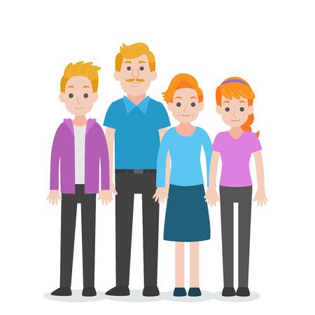 Set di persone carattere concetto di famiglia, zio, zia, nipote, nipote, nipote, personaggio dei cartoni animati design piatto vettoriale su sfondo bianco.