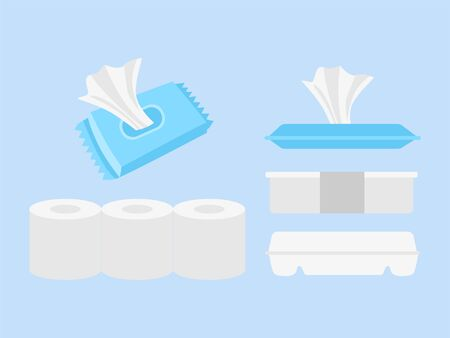 Donations Sharing campaign Rice box, wet Tissue and toilet Tissue.