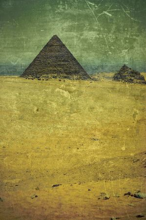 grunge old photo Pyramids in Egypt photo