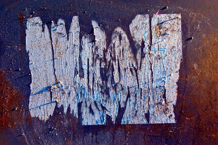 rustiness: grunge paint on metal background