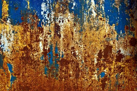 oxidize: grunge paint on metal background