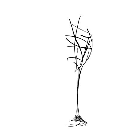 The stylized wine glass for fault  Illustration