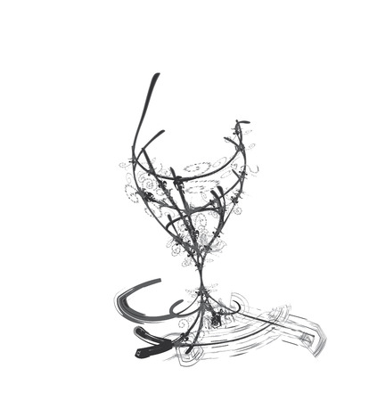 wares: stylized wine glass for fault