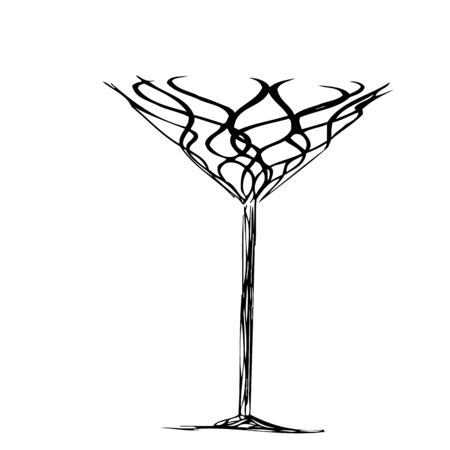The stylized wine glass for fault  Vector
