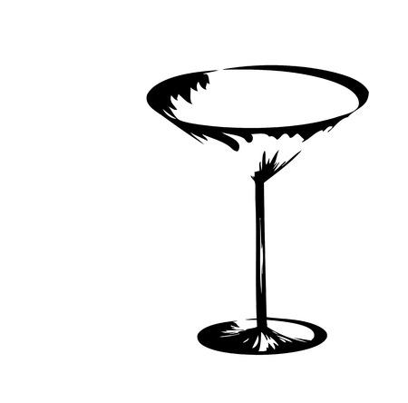 De gestileerde wijn glas voor fout