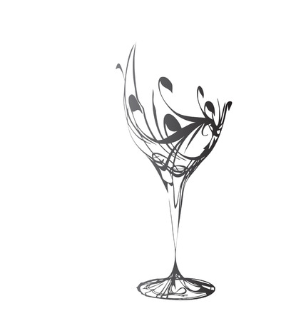 断層の様式化されたワインのガラス