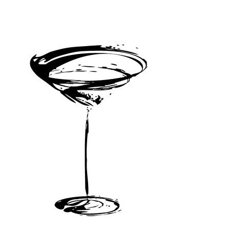 断層の様式化されたワイン グラス