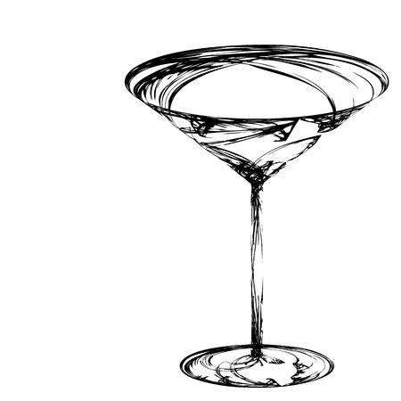 Stilisierte Glas Wein für Fehler Standard-Bild - 5743827