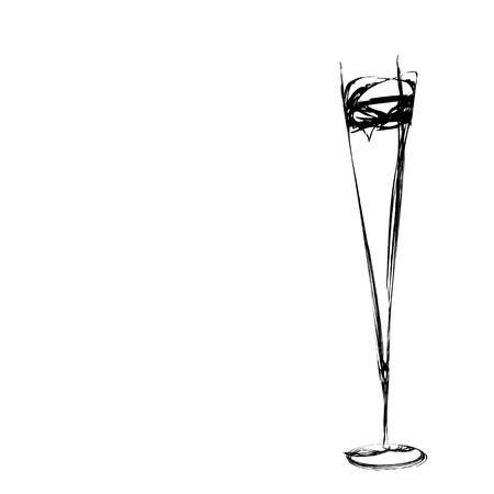 champagne flute: stylized wine glass for fault