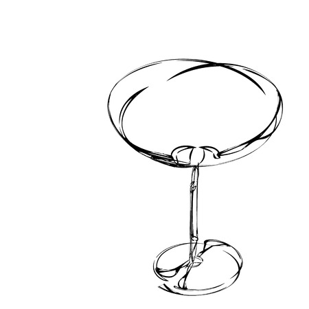 stylized wine glass for fault Vector