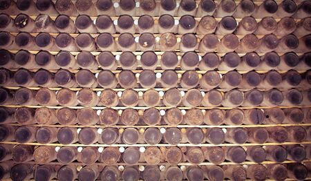 A lot of old wine bottles covered with dust Stock Photo - 5826279