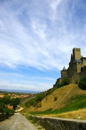 Carcassonne scenery  Stock Photo