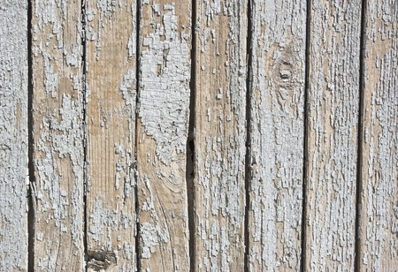 old background of  weathered white painted wood Stock Photo - 7207470