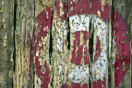 de oude houten pistool Target Grunge achtergrond Stockfoto