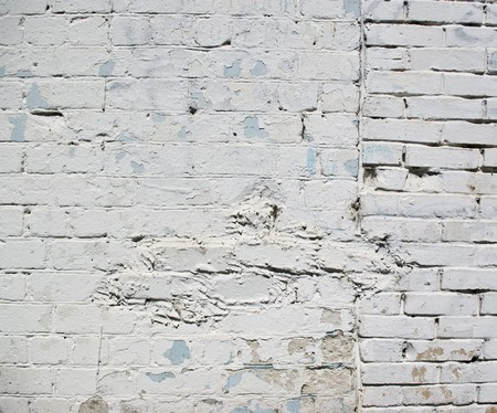 The grunge white brick wall for backgroun photo