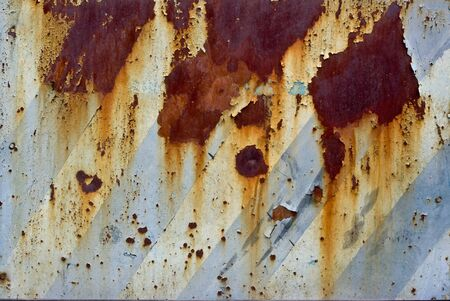 Photo of the texture of rusty painted metal Stock Photo - 7871610