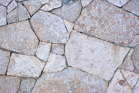 stone retaining wall with vaus size geometric stones Stock Photo - 8588583