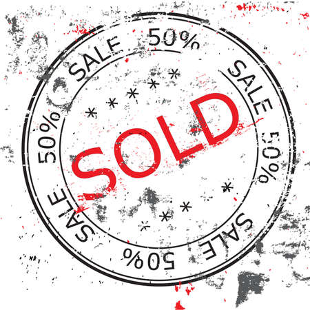 the grunge Sold stamp Stock Photo - 8738964