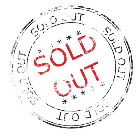 the sold out grunge stamp Stock Photo - 8840346