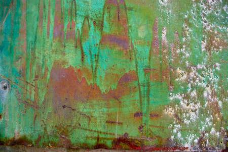 rust red: El vintag grunge hierro con fondo de color
