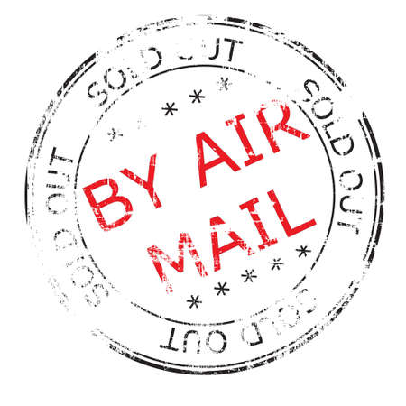 the by air mail grunge stamp Vector illustration Stock Photo